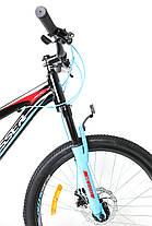 Горный велосипед Crosser Boy XC-200 26 дюймов 16,9 рама черно-зеленый, фото 2