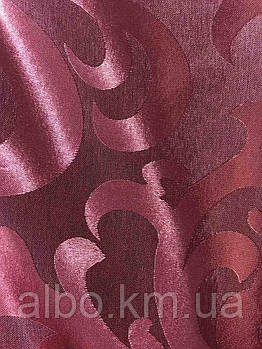 Бордова тканина з жаккарду на метраж, висота 2,8 м (С28-07)