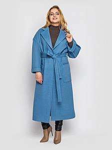 Пальто жіноче вільного стилю Олеся денім