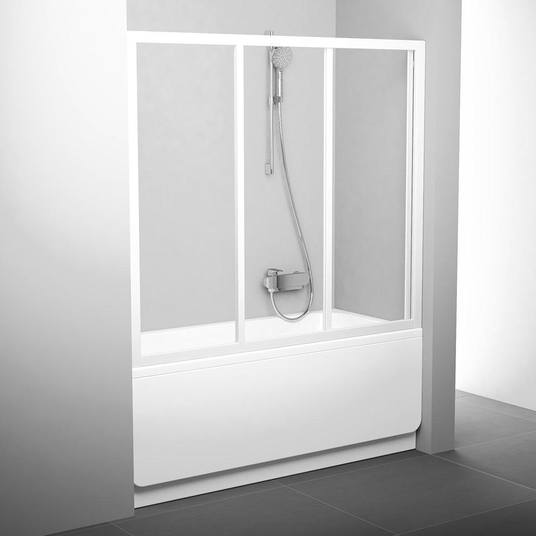 AVDP3-160 (Transp) white Двері для ванн