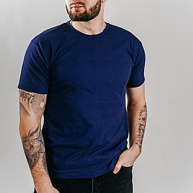 Классическая мужская футболка 61-036-0 S, Тёмно-синий