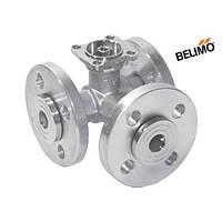 Кран шаровой трехходовой фланцевый Belimo R7025R-B2 ДУ 25   Kvs26   PN6