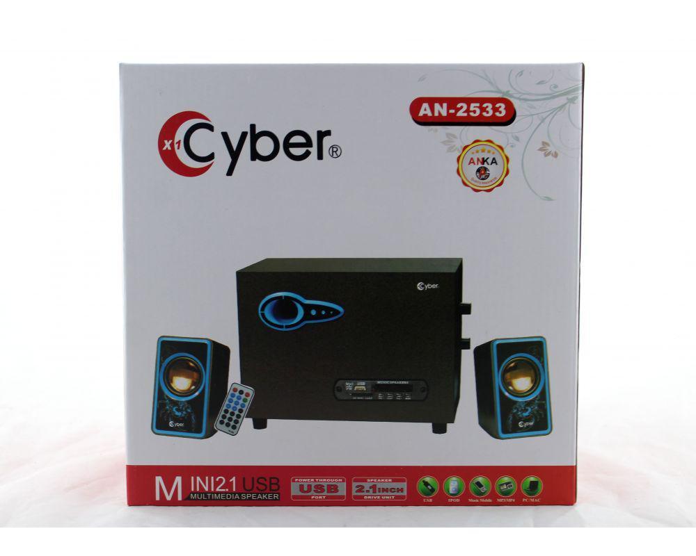 USB колонки для ПК комп'ютерні колонки 2.1 MP3 Bluetooth Cyber AN-2533