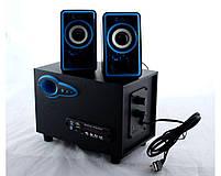 USB колонки для ПК комп'ютерні колонки 2.1 MP3 Bluetooth Cyber AN-2533, фото 3
