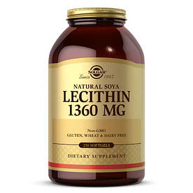 Натуральная добавка Solgar Lecithin 1360 mg, 250 капсул