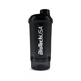 Шейкер Biotech Wave + Compact 500мл (+150мл), чорний