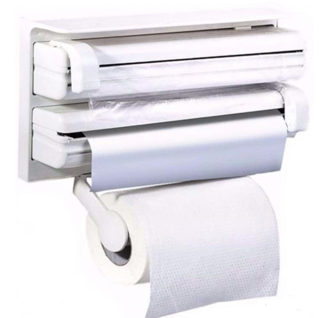 Кухонний диспенсер для паперових рушників, харчової плівки і фольги Triple Paper Dispenser
