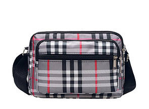Жіноча сумка в клітинку крос-боді жіноча сумочка містка