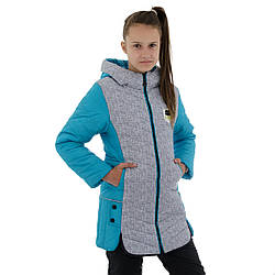 Весенние куртки для девочек подростков на флисе размер 146-158