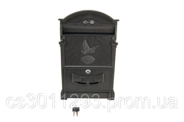 Почтовый ящик Vita - голубь (черный) 1 шт., фото 2