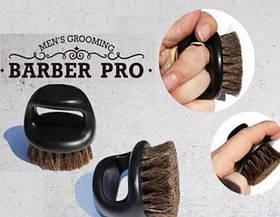 Щетка для  Barber натуральная круглая маленькая