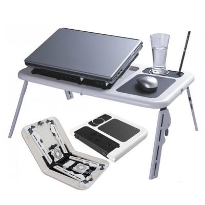 Столик для ноутбука з охолодженням 2 USB кулерами LD 09 E-TABLE, журнальний столик для ноутбука