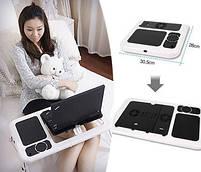 Столик для ноутбука з охолодженням 2 USB кулерами LD 09 E-TABLE, журнальний столик для ноутбука, фото 2