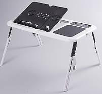 Столик для ноутбука з охолодженням 2 USB кулерами LD 09 E-TABLE, журнальний столик для ноутбука, фото 3