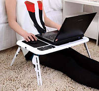 Столик для ноутбука з охолодженням 2 USB кулерами LD 09 E-TABLE, журнальний столик для ноутбука, фото 4