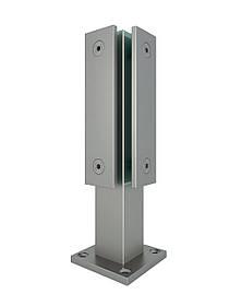 ODF-02-12-01-H250 Стойка угловая с прижимными пластинами для стеклянного ограждения высотой 250 мм, матовая