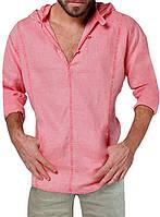 Тонкая пляжная рубашка с капюшоном из батиста. ХС-12ХЛ. Цвет в ассортименте