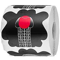 Форми для нарощування нігтів Gelsky-5 чорні, 300 шт. м'який овал, квадрат