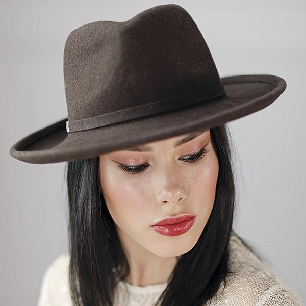 Фетровий молодіжна капелюх з формою туліі під чоловічу колір шоколад