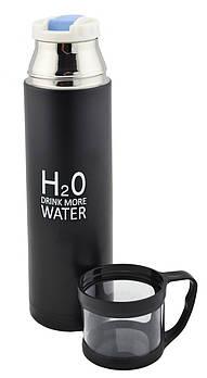 Термос H2O 4784 500ml, Вакуумний термос, Термокружка 0.5 л, Компактний термос, Термос для гарячого і холодного