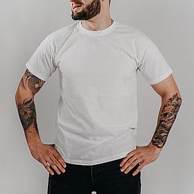Классическая белая мужская футболка «Fruit of the Loom»