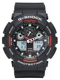 Годинник G-SHOCK-1 ЧОРНО-ЧЕРВОНІ