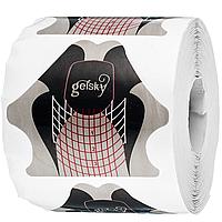Форми для нарощування нігтів Gelsky-3 сірі, 300 шт. м'який квадрат