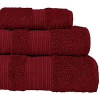 London Casual Avenue (Mood Eke Home) 50х90 пушистое полотенце  из бамбука и хлопка RED WINE