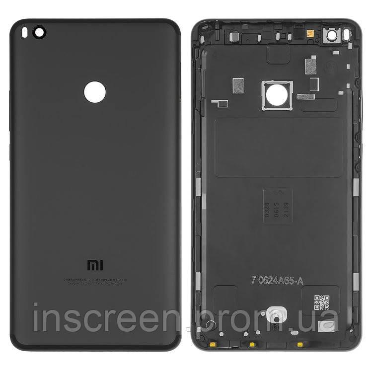 Задня кришка Xiaomi Mi Max 2 чорна, Matte Black, зі склом камери, фото 2