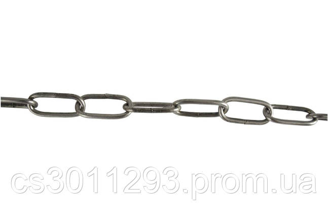 Цепь длиннозвенная Укрметиз - 7 х 42 х 5 м черная 1 шт., фото 2