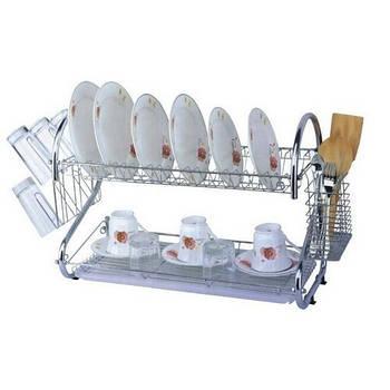 Функціональна сушарка для посуду UNIQUE 2002 металева