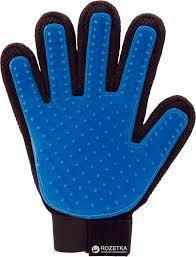 Щітка рукавичка для вичісування шерсті домашніх тварин True Touch 1 шт