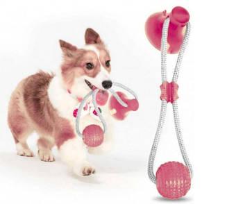 Іграшка М'яч для Домашніх Тварин на Присоску Dog Toy Rope PULL