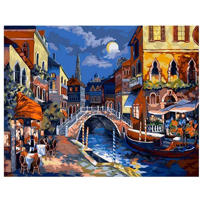 """Картина за номерами """"Нічна Венеція"""" Danko Toys KPN-01-02, 40-50 см"""