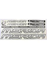 Наклейка Merida на раму велосипеда, Серебристый