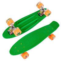 Скейт пенни борд 1705 Best Board, Зеленый, свет