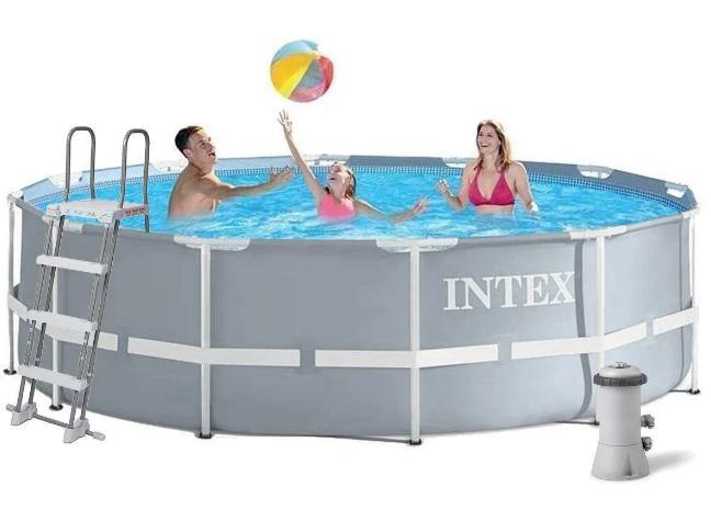 Интекс 26706, Каркасный бассейн 305X99 См с фильтр-насосом в комплекте