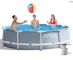 Интекс 26702, каркасный бассейн 305 x 76 см с фильтр-насосом в комплекте