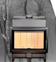 Каминокомплект: Камінна топка ROMOTOP Heat 2G 70.50.01 з порталом Мадрид (Браво) з мармуру Botticino, фото 3
