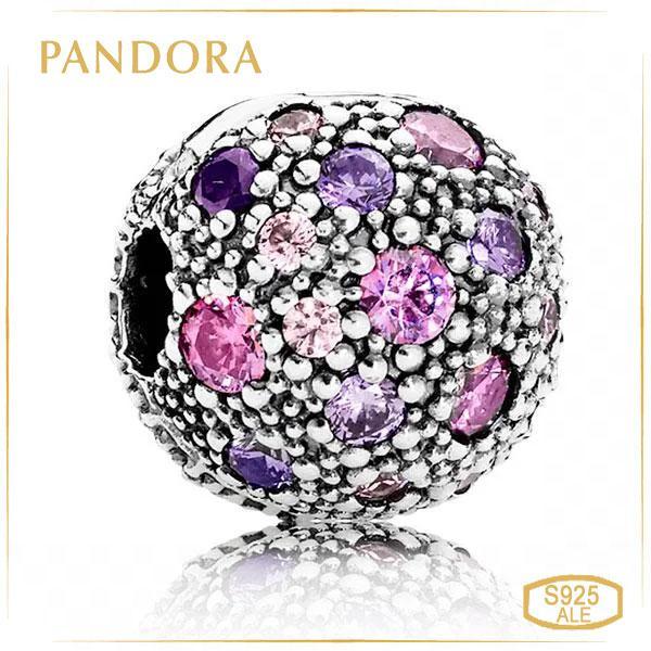 """Пандора Кліпса """"Бузкові космічні зірки"""" Pandora 791286CFPMX"""