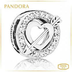 """Пандора Клипса Reflex """"Сердца и стрелы"""" Pandora 797793CZ"""