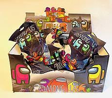 Фигурки Among Us с шляпкой + три карточки в пакете