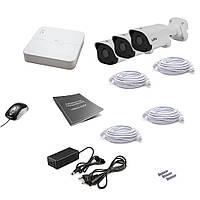 Комплект IP видеонаблюдения Uniview 3OUT 4MEGA
