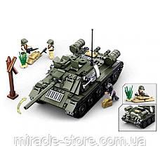 Конструктор SLUBAN Танк 687 деталей 2 в 1, фото 2