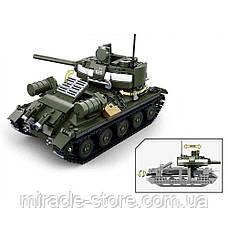 Конструктор SLUBAN Танк 687 деталей 2 в 1, фото 3