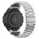 Металевий ремінець Primolux для смарт-годинника Xiaomi Amazfit T-Rex (A1918) - Silver, фото 2