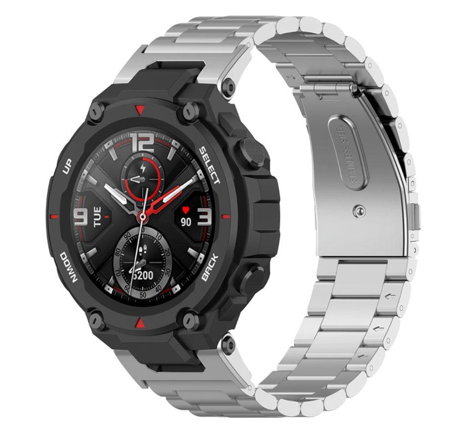 Металлический ремешок Primolux для смарт-часов Xiaomi Amazfit T-Rex (A1918) - Silver