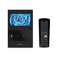 Комплект відеодомофона Slinex SQ-04M Black + Виклична панель Slinex ML-16HR Black