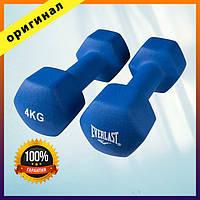 Гантели для фитнеса Everlast 4кг х 2 шт синие, Набор гантелей, 2 Гантели Эверласт по 1,4,5,7,8 кг