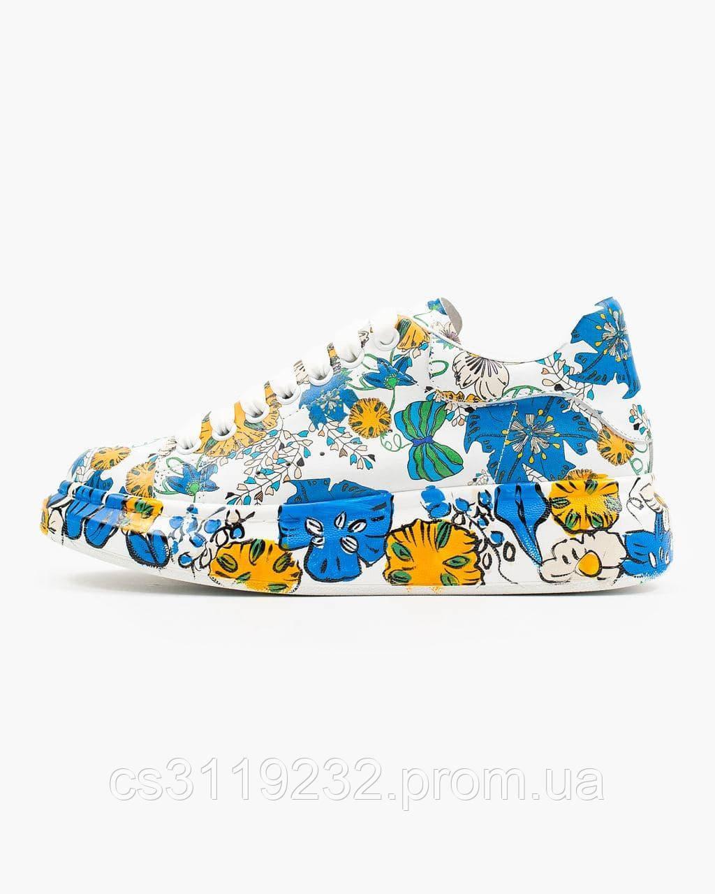 Жіночі кросівки Custom Flowers (білі)
